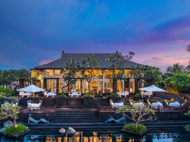 Saint Regis-The-Exterior-of-Kayuputi-Restaurant-at-Dusk